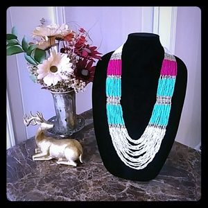 Georgeous Beaded Multicolor C+I Necklace